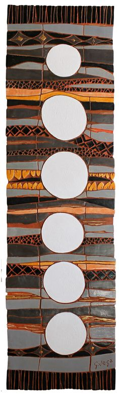 Ceramic wall art. Tapestry ceramic wall hanging. www.gvega.com.