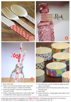 8 sweet washi tape ideas by Paper Fusion - Perth Upmarket - Perth Upmarket