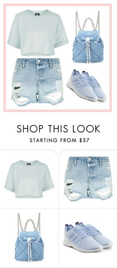 """""""Sporty Feminim Outfit"""" by zahratsa on Polyvore featuring Topshop, Salvatore Ferragamo and adidas Originals"""