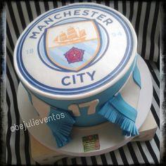 Manchester city cake Soccer cake