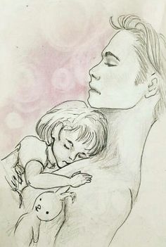 Father and daughter. So cute. I saw this drawing somewhere on pinterest and recreated it.
