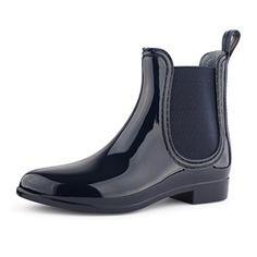 Damen Schuhe Chelsea Boots Lack mit Blockabsatz Blau 1329 Größe 38 - http://on-line-kaufen.de/best-boots/38-eu-damen-schuhe-chelsea-boots-lack-mit-10