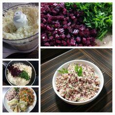 'Ryż' z kalafiora z botwinką i pietruszką Grains, Paleo, Food, Essen, Beach Wrap, Meals, Seeds, Yemek, Eten