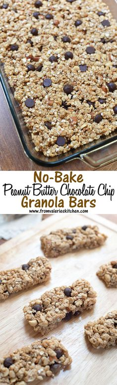 EASY, no-bake, kid-friendly homemade granola bars. ~ http://www.fromvalerieskitchen.com
