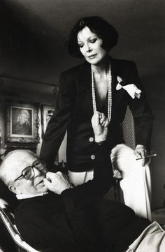 Helmut Newton  //  1985 Billy Wilder and his wife Audrey.