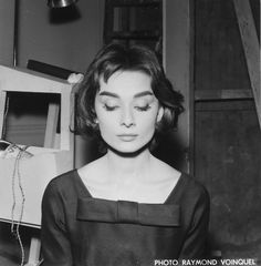Rare Audrey Hepburn — Audrey Hepburn's hair test for Love in the...