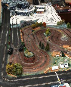 World'S biggest scalextric track designed by formula one ace Slot Car Racing, Slot Car Tracks, Race Cars, Gil Elvgren, Slot Machine, Drones, Carrera Slot Cars, Scalextric Track, Miniature Auto
