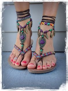 Embellished Boho Sandals