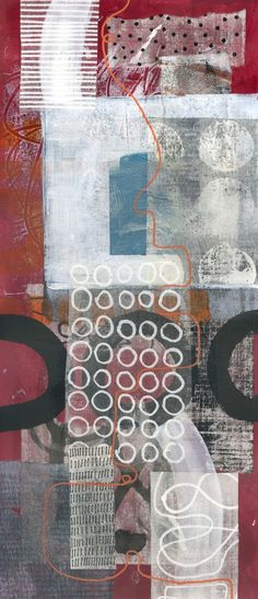 The Old Cells Studio - Michèle Brown Art: Long thin collages