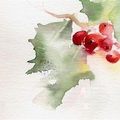 68 Ideas for christmas art painting watercolors xmas cards Watercolor Christmas Cards, Watercolor Cards, Watercolor Flowers, Watercolor Paintings, Watercolours, Watercolor Illustration, Watercolor Quote, Christmas Paintings, Christmas Art