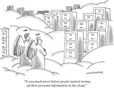 """""""It was much nicer before people started storing all their personal inform?"""" - New Yorker Cartoon-Mick Stevens-Premium Giclee Print Funny Images, Funny Pictures, Technology Humor, Medical Technology, Energy Technology, Technology Gadgets, Tech Gadgets, Tech Humor, Humor Humour"""