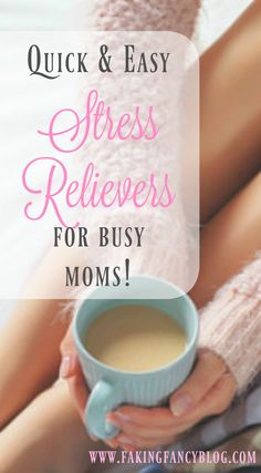 Super easy and quick stress relief for busy moms, or any busy woman! I like that they all take under ten minutes and are free or really cheap!