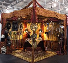 The Art of the Mask booth at the Contemporary Craft Council show in San Fran