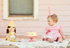 1 year session ~ I absolutely love this idea... little tea party ~ would be cute with all the kids