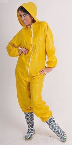 PVC Full Body Suit Adult Plastic Waterproof One Piece Hood Tracksuit in Sporting Goods, Fishing, Clothes, Shoes & Accessories | eBay!