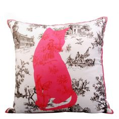 Cat toile cushion