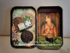 art projects altoid boxes | Altered Altoids tin by Caroline Duncan ~ Stampings and Inklings