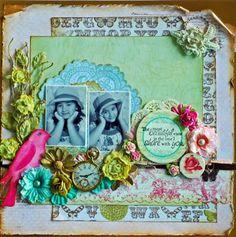 Scrapaholic's Corner: Layout & Mini-Album for Shabby Chic DT