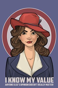 Agent Carter I Know My Value Art Print