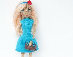 "Pattern ""Doll Snow White"", crochet doll, amigurumi doll, amigurumi PDF pattern, doll pattern, Instant download"