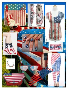 """Happy 4th of July."" by sequoiafaie ❤ liked on Polyvore featuring CellPowerCases, Glory Haus and K. Bell"