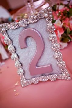 Bling Wedding Table numbers Wedding signs  by CinderellasFairyTale, $18.00
