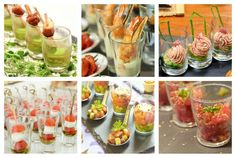 10 aperitivos salados para servir en vasitos de vidrio - IMujer Shot Glass Appetizers, Appetizers For Party, Healthy Finger Foods, Healthy Recipes, Mezze, Pizza Bites, Xmas Food, Food Humor, Tasty Dishes