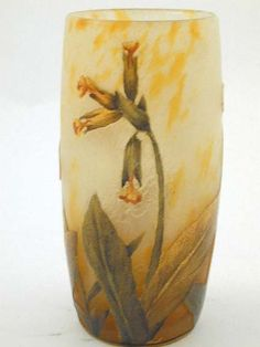 Daum Vase with Cowslips