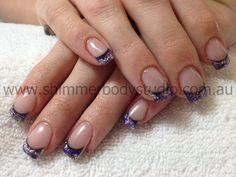 Gel nails, Glitter Nails, Nail Art.