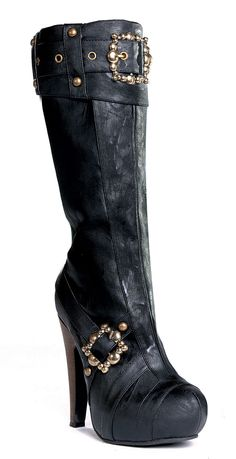 426-AUBREY Knee High Steampunk Boot at www.Liesels.com