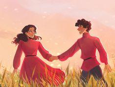 "Meg☀️ on Instagram: ""Meet you in the meadow 🌾✨ These two were so adorable. Swipe for a neat little time lapse 😉 • • • #malyenoretsev #alinastarkov…"""