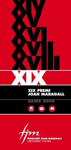 Fulletó Premi de la Fundació Joan Maragall 2008.  #design #religion #culture
