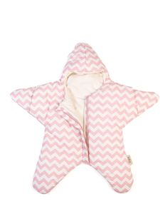 Baby Bites Star Sleeping Bag Chevron Pink