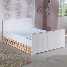 bett luis 180 x 200 cm kiefer wei lackiert d nisches bettenlager bettenlager und. Black Bedroom Furniture Sets. Home Design Ideas