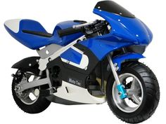 Gas Pocket Bike By MotoTec | Blue