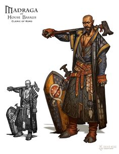 RPG Characters: Madraga Basalis - War Cleric of Kord, David Kegg on ArtStation…