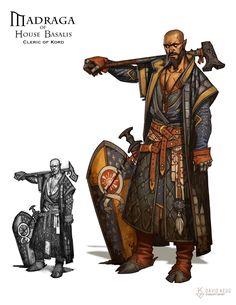 RPG Characters: Madraga Basalis - War Cleric of Kord, David Kegg on ArtStation at https://www.artstation.com/artwork/xZ5K1