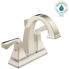 Delta Dryden 4 in. Centerset 2-Handle Bathroom Faucet with Metal Drain Assembly in Polished Nickel