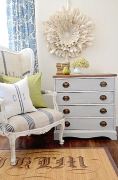 Idea for re-doing old gray dresser...