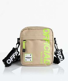 Whether your journey takes you across the world or across the street, bring the Official Desert Volt Utility Shoulder Bag to store all your essentials in style. Khaki with volt green logos and accessories offer a striking look while the contrasting black Backpack Purse, Crossbody Bag, My Bags, Purses And Bags, Cinch Bag, Cute Purses, Girls Bags, Cute Bags, Luxury Bags