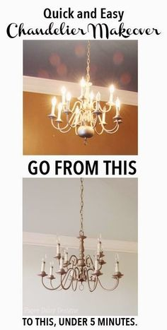 Home improvement how to spray paint old brass light fixtures chandelier makeover in minutes just think of all the dated brass chandeliers we could save aloadofball Choice Image