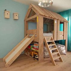Treehouse Loft Bed Costco Building Hardware Indoor Playroom Bedroompictinfo Kids Bedroom With Twin White Tree House Design - Bedroom Inspired Tree House Getaway Ideas About Cama Playground, Bunk Bed With Slide, Bed Slide, Toddler Bed With Slide, Bookshelf Bed, Bookshelves, Indoor Slides, Kids Bunk Beds, Bed Plans