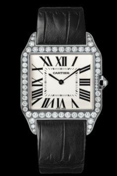 Cartier Santos Dumont: White Gold; Diamonds... My all time favorite timepiece...
