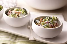 Creamy Broccoli Broccoli Salad Bacon, Bacon Salad, Salad Bar, Soup And Salad, Pasta Salad, Side Dish Recipes, Dinner Recipes, Dessert Recipes, Vinaigrette