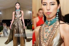 """""""During New York Fashion Week, there was one breakout model in particular ruling the runways at Gabriela Hearst, Prabal Gurung, and Jonathan Simkhai: Quannah Chasinghorse. The 19-year-old Indigenous model—who is Hän Gwich'in and Oglala Lakota—is taking the fashion world by storm and providing much-needed representation for Indigenous people in the process."""""""