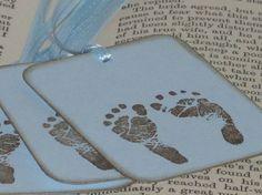 Tiny Footprints Baby Boy Gift Tags