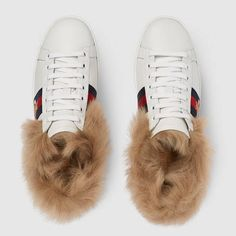 Gucci Ace Sneaker mit Fell Detail 3