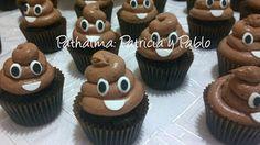 PATHALMA :  Patricia y Pablo: cupcakes emoji de caca, emoji poop cupcakes