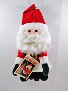 Plush Santa Claus Christmas Stocking - Vintage 1981 Hallmark Stuffables #Hallmark #PlushSantaClaus ..... Visit all of our online locations ..... (www.stores.eBay.com/variety-on-a-budget) ..... (www.amazon.com/shops/Variety-on-a-Budget) ..... (www.etsy.com/shop/VarietyonaBudget) ..... (www.bonanza.com/booths/VarietyonaBudget ) .....(www.facebook.com/VarietyonaBudgetOnlineShopping)
