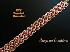DIY Beaded bracelet Zigzag pattern ( EASY METHOD) - YouTube